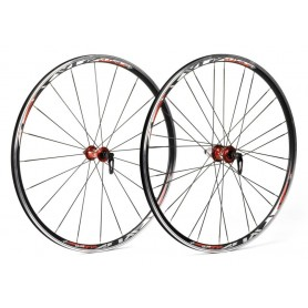 XLC Pro 28 inch Racing wheel set WS-R02 622-15C blade spokes black