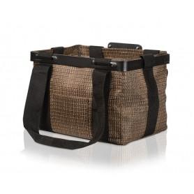 T-One Handlebar basket Quan PP, 250x330x250mm brown black