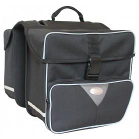 Haberland Double bag large 31x31x16cm, 31 ltr black