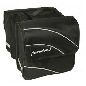 Haberland Double bag Kim S 20 inch 24x24x8.5cm, 10 ltr black