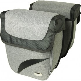Haberland Double bag Trend M Grey Deluxe, 27x31x11cm, 18 ltr