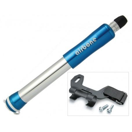 Airbone Fahrrad Fahrradpumpe Minipumpe ZT-702 AV 99mm blau inkl Halter