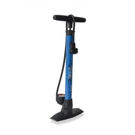 XLC Floor pump 'Delta' PU-S04 11 bar with Dual head blue