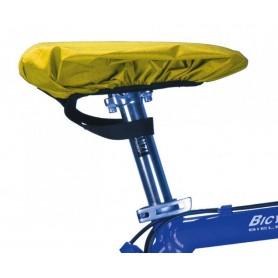 Rain protection cap for Bike saddles signal yellow