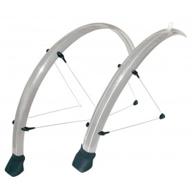 Stronglight Mudguard set Cross 28 inch silver 42 mm