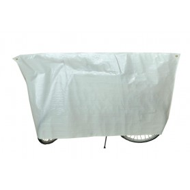Bike protection cover Classic VK 110 x 210cm, white, with eyelets and cord