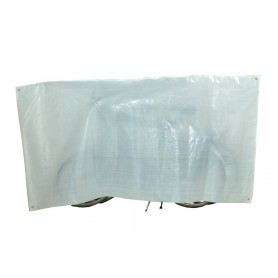 Bike protection cover Duo VK for 2 Bikes 130 x 250cm, white, incl. eyelets