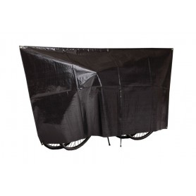 Bike protection cover Duo VK for 2 Bikes 130 x 250cm, black incl. eyelets