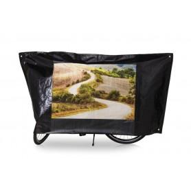 Fahrradschutzhülle VK Color schwarz mit Motivbild