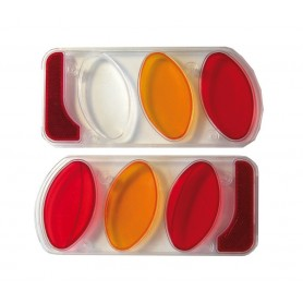 Peruzzo Tail light glass plastic set right + left for coupling carrier