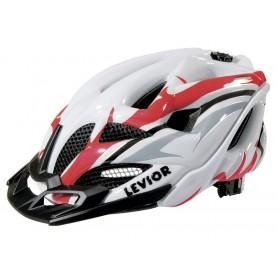 Levior Bike helmet Opus Visor white red size L 56-62 cm
