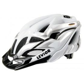 Levior Bike helmet Opus Visor white silver size M 52-58 cm