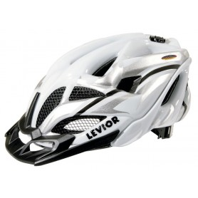 Levior Bike helmet Opus Visor white silver size L 56-62 cm