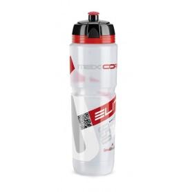 Trinkflasche Elite Maxi Corsa 950ml, klar, Logo rot