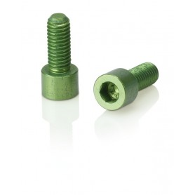 XLC screws for Bottle holder 1 pair limegreen