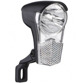 LED-Front light Dynamo Uni LED ca.15 Lux with holder and switch