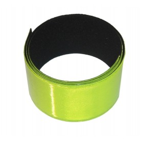 Reflective tape with roll up automatic per pieces yellow, 30x400mm