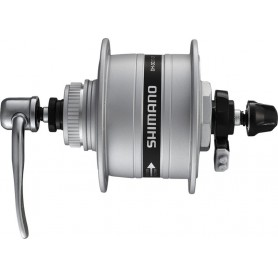 Shimano Front wheel hub dynamo A-DH3D37 3W 100mm 36 hole silver Centerlock, SNSP