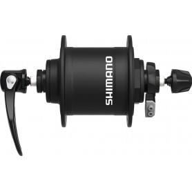 VR-Nabendynamo Shimano DHT4000 100mm, 32 Loch, mit SNSP, schwarz