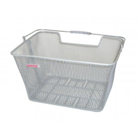 Pletscher Rear wheel basket for system carrier 40x31x22cm close meshed silver