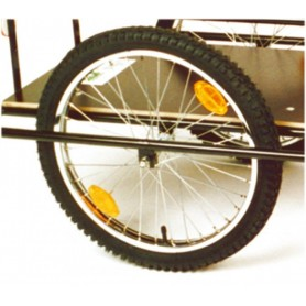 Spoke wheel with tires 20 inch for trailer 'Der Roland' with tires