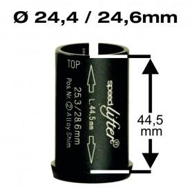 BY.SCHULZ Reduzierhülse Speedlifter 1 1/8 Zoll Ø24,4/24,6mm 44,5mm schwarz