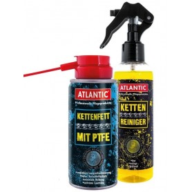 Chain care kit Atlantic 8800K consists of Chain cleaner and Chain grease