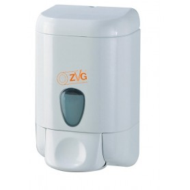 Soap dispenser plastic white ca 1000ml 20.1x11.2x12.8cm