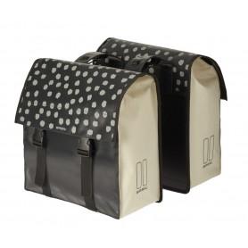 Basil Double bag Urban Load DB waterproofed 48-53 Ltr black white