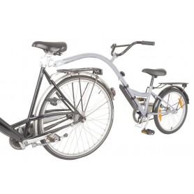 """Kinderrad-Nachläufer terra bikes Trailer 20"""" silber RH 28 cm"""
