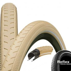 Continental RIDE Classic bicycle tyre 37-622 E-25 wired reflective creme