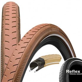 Continental RIDE Classic bicycle tyre 40-635 E-25 wired reflective brown