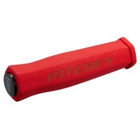 Ritchey grips WCS 130mm Neoprene Handlebar plugs red