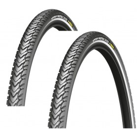 2x Michelin Protek Fahrradreifen, schwarz, Draht, alle Versionen
