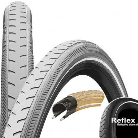 Continental RIDE Classic bicycle tyre 40-635 E-25 wired reflective grey