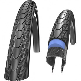 "Schwalbe Marathon Plus wheel chair tyre 24"" 26"" Flat-less wire black"