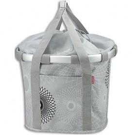 Front-Basket KLICKfix Bikebasket crystals light grau