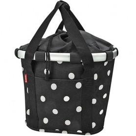 Front-Basket KLICKfix Bikebasket black dots