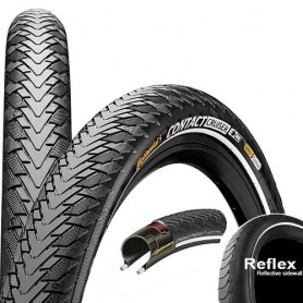 Continental CONTACT Cruiser bicycle tyre 55-622 E-25 wired reflective black