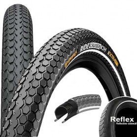 Continental RIDE Cruiser bicycle tyre 55-559 E-25 wired reflective black
