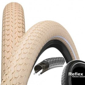Continental RIDE Cruiser bicycle tyre 55-559 E-25 wired reflective creme