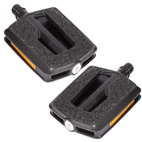 schwarz Kunststoff//Sandpapier ERGOTEC Platformpedal VP-836 normale Lager