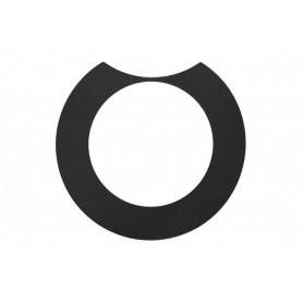 Abdeckring, schwarz, für Design-Deckel Active und Performance, links