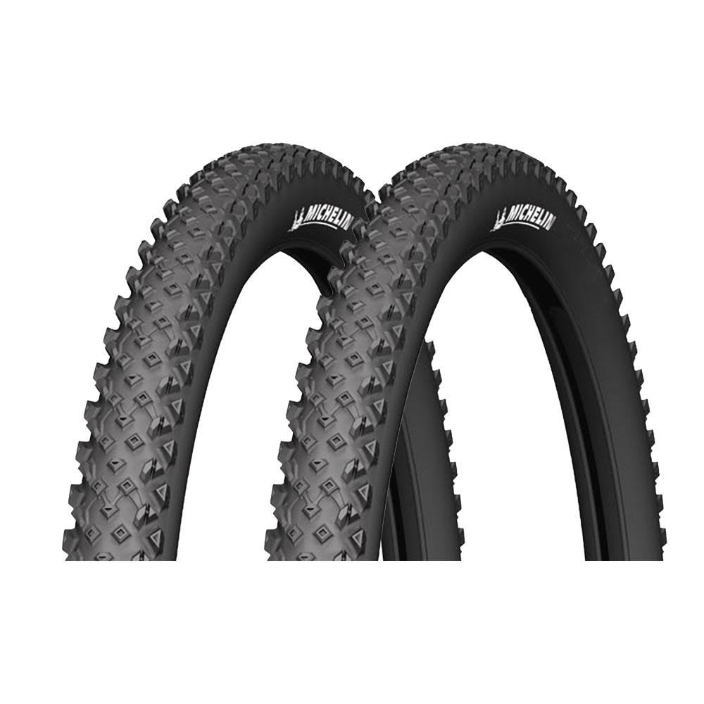 2x Michelin Country Race/'R schwarz MTB Reifen 26x2.10 54-559 CONTI SCHLÄUCHE
