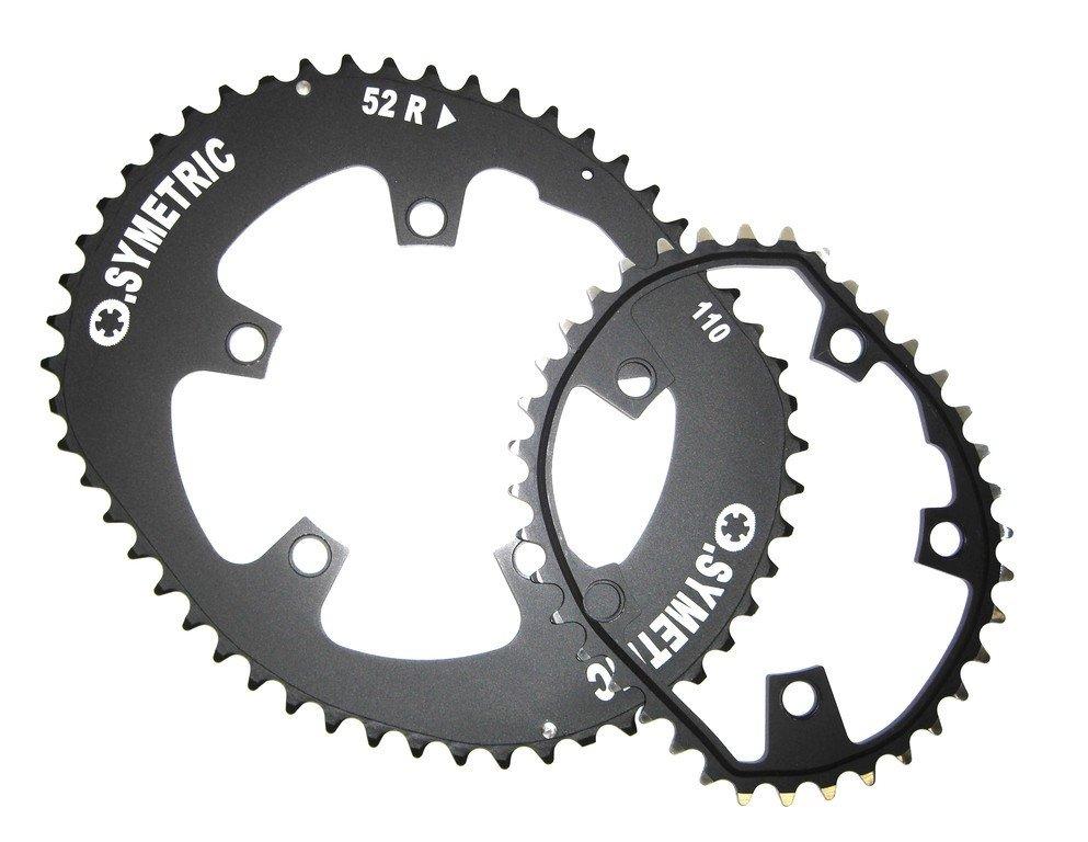Catene foglio KIT Osymetric standard per bicicletta da corsa 5242 DENTI NERO LK 130mm